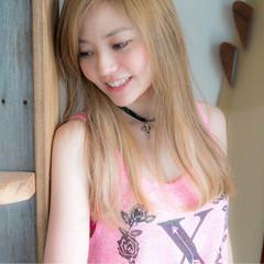 ヘアアレンジ ナチュラル 外国人風 ストレート ヘアスタイルや髪型の写真・画像