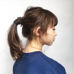 セミロング ヘアアレンジ 簡単ヘアアレンジ デート ヘアスタイルや髪型の写真・画像
