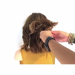 ヘアアレンジ エレガント 女子会 ボブ ヘアスタイルや髪型の写真・画像