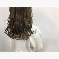 セミロング 大人かわいい デート 大人可愛い ヘアスタイルや髪型の写真・画像