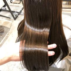 アディクシーカラー 髪質改善トリートメント セミロング サイエンスアクア ヘアスタイルや髪型の写真・画像