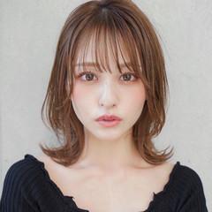 前髪 ナチュラル ひし形シルエット ウルフカット ヘアスタイルや髪型の写真・画像
