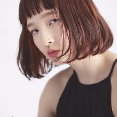 ハイライト ミディアム 外国人風 ナチュラル ヘアスタイルや髪型の写真・画像