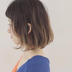 ボブ アウトドア 女子会 外国人風 ヘアスタイルや髪型の写真・画像