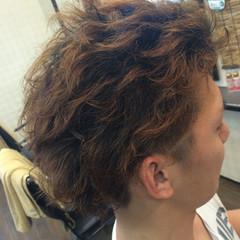 パーマ 無造作 ショート 刈り上げ ヘアスタイルや髪型の写真・画像