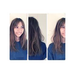 外国人風 ロング ハイライト 大人かわいい ヘアスタイルや髪型の写真・画像