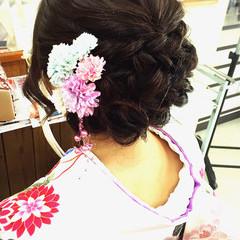 振袖 ヘアアレンジ セミロング ヘアスタイルや髪型の写真・画像
