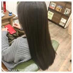 艶髪 ストレート 大人女子 ナチュラル ヘアスタイルや髪型の写真・画像