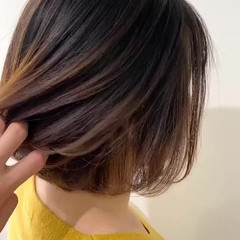 大人かわいい 透明感カラー イルミナカラー ボブ ヘアスタイルや髪型の写真・画像