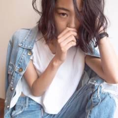 暗髪 ショート ストレート 黒髪 ヘアスタイルや髪型の写真・画像
