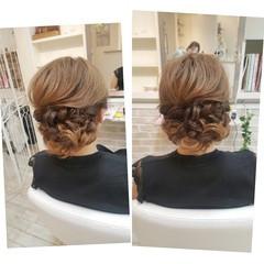 結婚式 ヘアアレンジ 女子会 エレガント ヘアスタイルや髪型の写真・画像