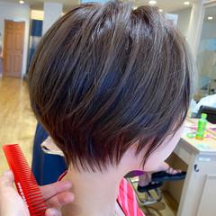 ショート ショートボブ ショートヘア まとまるボブ ヘアスタイルや髪型の写真・画像