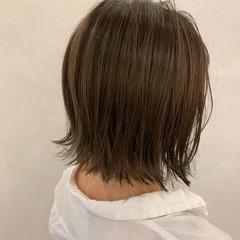 外ハネボブ ハイライト ボブ ブリーチ ヘアスタイルや髪型の写真・画像