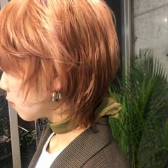 ショートヘア ショート インナーカラー ショートボブ ヘアスタイルや髪型の写真・画像