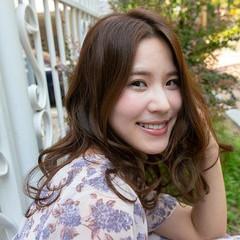 韓国風ヘアー パーマ 韓国ヘア ロング ヘアスタイルや髪型の写真・画像