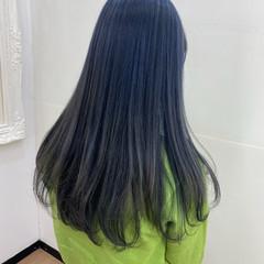 ブルージュ ブルーブラック ストリート ロング ヘアスタイルや髪型の写真・画像