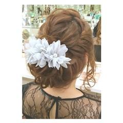 結婚式 デート ナチュラル 大人女子 ヘアスタイルや髪型の写真・画像