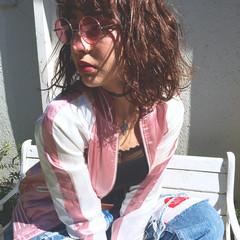 ボブ パーマ ストリート ウェットヘア ヘアスタイルや髪型の写真・画像
