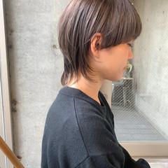 ウルフカット ショートヘア 切りっぱなしボブ モード ヘアスタイルや髪型の写真・画像