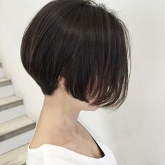 ナチュラル ショートボブ 大人女子 ショート ヘアスタイルや髪型の写真・画像