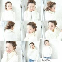 愛され 大人かわいい フェミニン 抜け感 ヘアスタイルや髪型の写真・画像