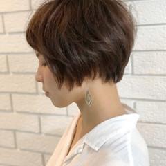 かわいい ナチュラル ショート コンサバ ヘアスタイルや髪型の写真・画像