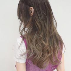 ストリート ハイライト グラデーションカラー ロング ヘアスタイルや髪型の写真・画像