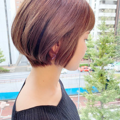 ショートヘア オフィス 大人かわいい ナチュラル ヘアスタイルや髪型の写真・画像