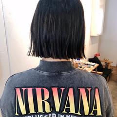 ミニボブ ショートボブ 切りっぱなしボブ ストリート ヘアスタイルや髪型の写真・画像
