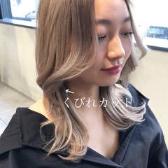 ヨシンモリ ストリート ミルクティーグレージュ タンバルモリ ヘアスタイルや髪型の写真・画像