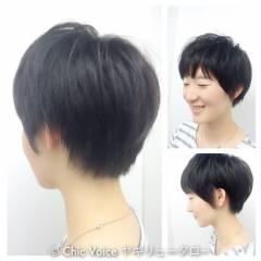 ナチュラル ショート ストリート 卵型 ヘアスタイルや髪型の写真・画像