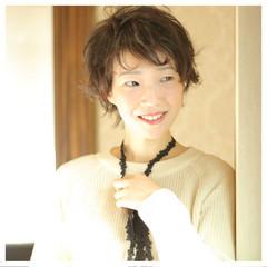 大人かわいい ガーリー ショート フェミニン ヘアスタイルや髪型の写真・画像