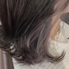 ミディアム 大人可愛い 透明感 暗髪女子 ヘアスタイルや髪型の写真・画像
