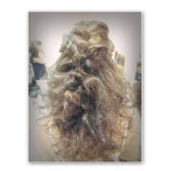 ガーリー ナチュラル セミロング ゆるふわ ヘアスタイルや髪型の写真・画像