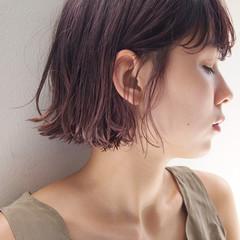 暗髪 ストリート 大人女子 ボブ ヘアスタイルや髪型の写真・画像