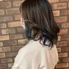 ハイライト イルミナカラー インナーカラー スロウ ヘアスタイルや髪型の写真・画像