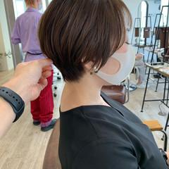 インナーカラー ナチュラル ショートボブ ベリーショート ヘアスタイルや髪型の写真・画像