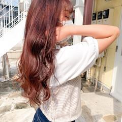 ラベンダーピンク 愛され ピンク 大人可愛い ヘアスタイルや髪型の写真・画像