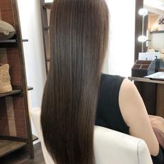 ロング 極細ハイライト ナチュラル 艶髪 ヘアスタイルや髪型の写真・画像