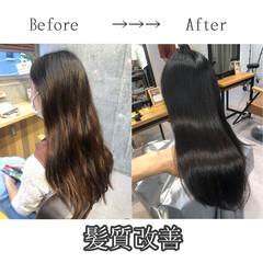 最新トリートメント ロング 髪質改善 ツヤ髪 ヘアスタイルや髪型の写真・画像