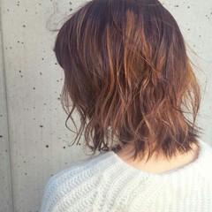 ハイライト ニュアンス 色気 ゆるふわ ヘアスタイルや髪型の写真・画像