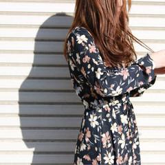 ヘアアレンジ かわいい ロング 花 ヘアスタイルや髪型の写真・画像