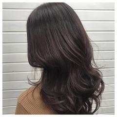 セミロング ピンク ベージュ イルミナカラー ヘアスタイルや髪型の写真・画像