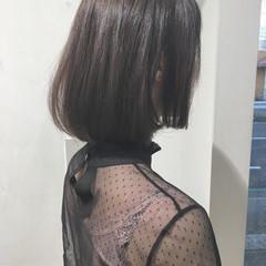 ボブ タンバルモリ 切りっぱなし ショートボブ ヘアスタイルや髪型の写真・画像