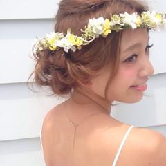 ヘアアレンジ 愛され 結婚式 ゆるふわ ヘアスタイルや髪型の写真・画像