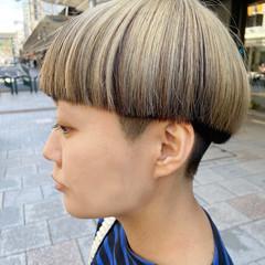 モード アッシュグレージュ ブリーチ ホワイトブリーチ ヘアスタイルや髪型の写真・画像