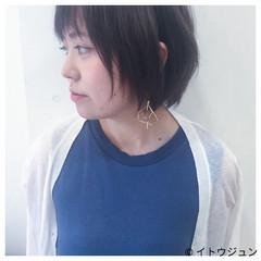 色気 ハイライト アッシュ 暗髪 ヘアスタイルや髪型の写真・画像