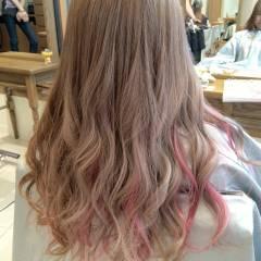 モテ髪 ストリート ピンク レッド ヘアスタイルや髪型の写真・画像