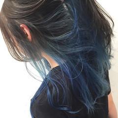 ハイトーン インナーカラー モード ロング ヘアスタイルや髪型の写真・画像