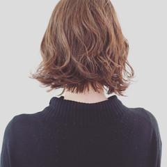 パーマ 外ハネ ボブ ストリート ヘアスタイルや髪型の写真・画像